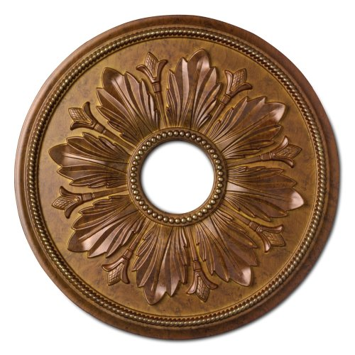Focal Point 81618D 18-Inch Renaissance Medallion 17 7/8-Inch by 17 7/8-Inch by 1 1/8-Inch Focal Finish, D Regal Gold -