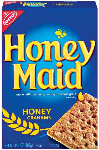 Honey Maid Original Grahams, 14.4-Ounce Boxes (Pack of 4)