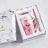 Xiaobing Tazza in ceramica alla moda con tazza con motivo in marmo dorato Tazza da caffè creativa per ufficio -B49-301-400ml