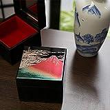 Cajas de joyería, Caja de joyería Lacquerware Lámina Oro Rojo Fuji Mountain Jewelry Box Jewelry Box Regalo
