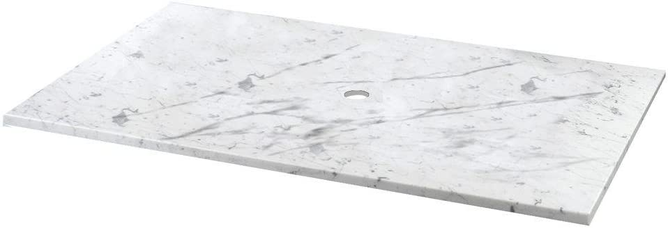 Pegasus 12108 31 Inch Carrara Marble Vessel Top With Drain Hole And Ez Punch Faucet Hole Drillings Bathroom Sink And Tub Drain Strainers