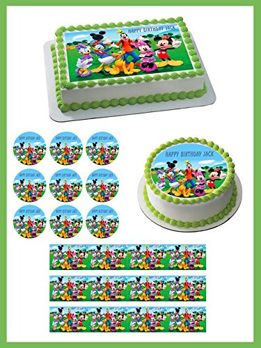 """Mickey Mouse Clubhouse (3) - Edible Cupcake Toppers - 1.8"""" cupcake (20 pieces/sheet)"""