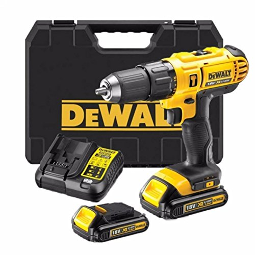 DEWALT 18V Combi Drill X2 Upgraded 1.5AH Batteries Fast Charger,Latest T...