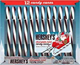 Hersheys Chocolate Mint Candy Canes! One Box Of 12 Candy Canes! Fun Holiday Treat! Great Stocking Stuffer! One 5.28 Ounce Box!