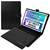 Cooper Infinite Ejecutivo Funda con Teclado para Tableta de 9 a 10,5 Pulgada | Universal | 2-in-1 Bluetooth Keyboard e Cuero Foglio Case (Negro)