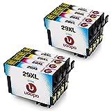 Uoopo 29 29XL Compatible Epson 29XL Cartouches d'Encre, 2 Noir/Cyan/Magenta/Jaune pour Epson Expression Home XP-235 XP-245 XP-247 XP-332 XP-335 XP-342 XP-345 XP-432 XP-435 XP-442 XP-445