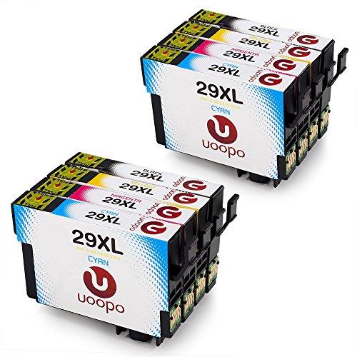 Uoopo 29 XL Compatibile Cartucce Epson 29XL per Epson Expression Home XP-235 XP-432 XP-332 XP-335 XP-435 XP-245 XP-247 XP-342 XP-345 XP-442 XP-445 (2 Nero,2 Ciano,2 Magenta,2 Giallo)