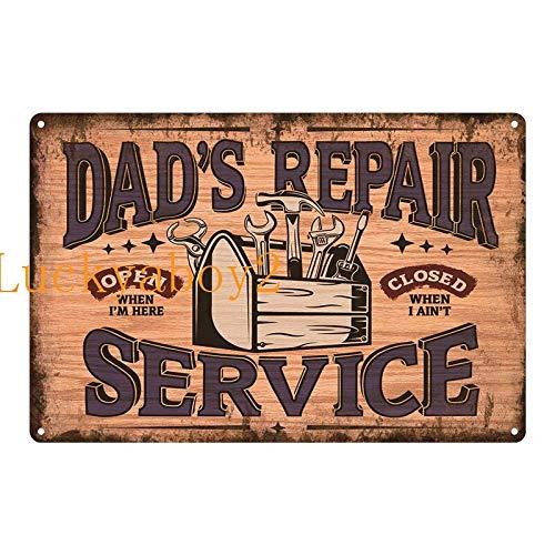 Ami0707 Plaque Vintage Vintage Shed Metal Sign Plaque My Garage My Rules Dad's GARAGE Retro Metal Tin Sign Car Repair Man Cave Wall Art Decor 20x30cm SW316