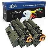 RINKLEE CE505X 05X Cartucho de Toner Compatible para HP Laserjet P2050 P2053 P2054 P2055 P2055d P2055dn P2055x P2056 P2057 | Alta Capacidad 6500 Páginas | Negro, 2-Pack