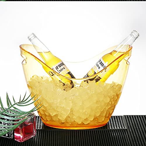 HAOXIU Cubitera grande para bebidas o cerveza, diseño de barril de cerveza, color transparente