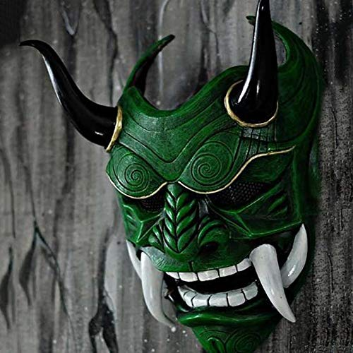 iBoosila Horror Warrior Demon Grimace, disfraz de Halloween Mask Demon Warrior Party Paintball CS, juego de rol y fiestas (varios estilos opcional)