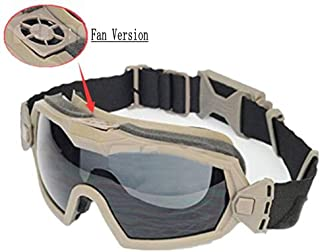 9aa8fcb5f4 SGOYH Fan Version Cooler Tactical Airsoft Paintball Gafas Regulador Gafas  Protectoras para Snowboard Esquí Caza Tiro
