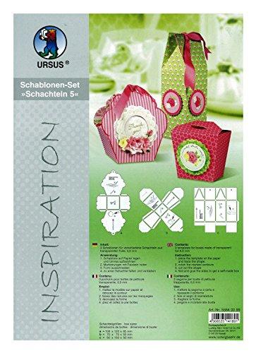 Ursus 55840099 - Inspiration Set 3, 5 Schablonen für verschiedene Schachteln