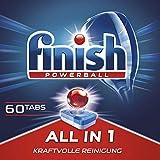 Finish All in 1 Spülmaschinentabs, phosphatfrei – Geschirrspültabs mit kraftvollem Powerball gegen hartnäckigste Fettanschmutzungen – Sparpack mit 60 Finish Tabs