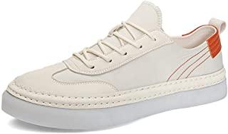 XUJW-Shoes, Fashion Sneaker for Men Sports Shoes Lace Up Style Umbrella Cloth Material Fashion Stitching Outsole Durable Comfortable Walking Travel Driving (Color : White, Size : 7.5 UK)