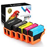Leize Remanufactured Ink Cartridges for Epson 302 302XL T302XL T302 5-Pack(BK/PB/C/M/Y) use for Epson XP-6000 XP-6100 Printer Series (T302XL020-S, T302XL120-S, T302XL220-S, T302XL320-S, T302XL420-S)