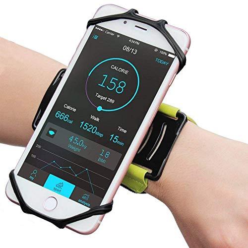 Bovon Universal Sportarmband für 4.0-6.2 Zoll Smartphones, 180° Drehbar Handgelenk Sport Handytasche