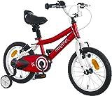 Moma Bikes - Bicicleta Infantil 16' con ruedines incluidos, Rojo, Talla Única