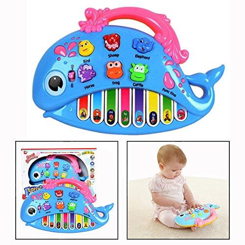 OFKPO Baby Lehrreich Spielzeug,Elektronische Tastatur Musikinstrumente Kinder Spielzeug(Blau)