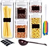 Airtight Food Storage Container Set, Clear Kitchen and Pantry Containers, BPA Free Containers