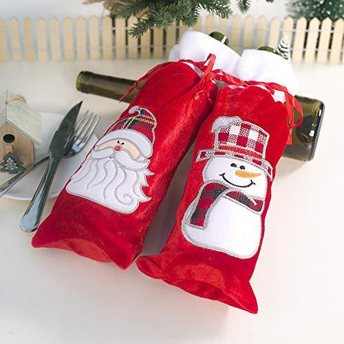 YTHK 2020 suéter de Botella de Vino de Navidad, Cubierta de Botella de champán de Vacaciones para Fiesta, Mesa de Comedor, Decoraciones para Botellas, Decoraciones para Fiestas en casa, 1 Juego