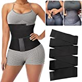 Tiktok Waist Trainer Quick Snatch Bandage Wrap Lumbar Waist Support Trainer Back Braces Postpartum Recovery for Women Body Shaping (Black 4m/13ft)