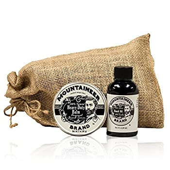Heavy Duty Beard Balm and Beard Oil by Mountaineer Brand  The Ultimate Beard Conditioning Combo Pack