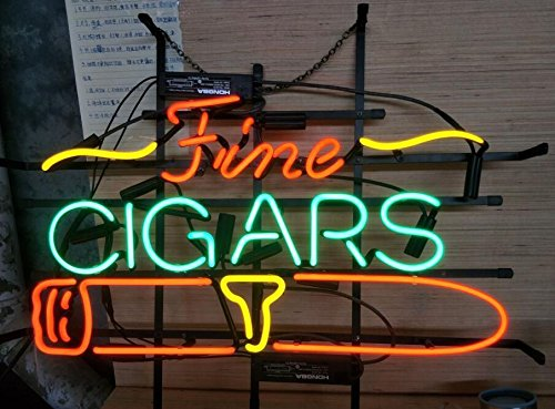 Desung Brand New 20'x16' Fine Cigars Neon Sign (Various Sizes) Beer Bar Pub Man Cave Business Glass Neon Lamp Light DB346