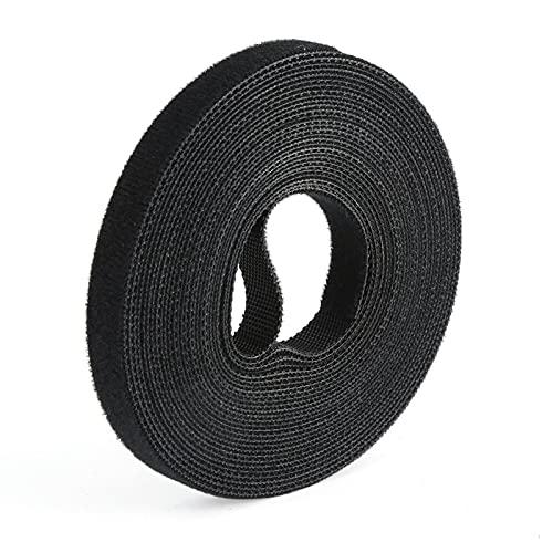 LJWXX Brida Black Nylon Cable Ties Belting Velcros Adhesivo Cable de Cable...