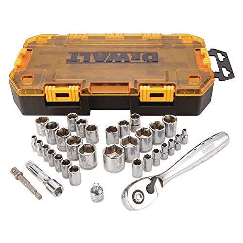 DEWALT Tough Box Tool KIT, 1/4''& 3/8'' Drive (DWMT73804)