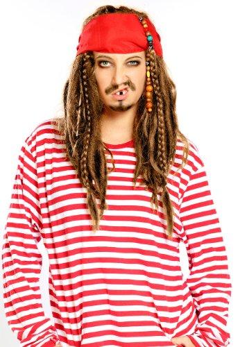 infactory Perruque Pirate Cheveux châtains