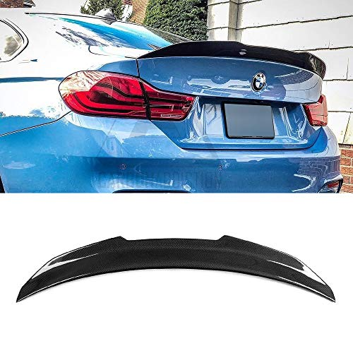 SNA Carbon Fiber Rear Trunk Lip Spoiler Compatible for 2012-2018 BMW 3 Series F30 Sedan M3 F80 (PSM Style Wing)