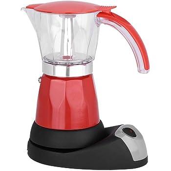 Cafetera exprés, 300 ml / 6 tazas 480 W eléctrica Moka Pot extraíble cocina cocina cafetera(Red): Amazon.es: Hogar