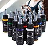 30Ml / Bottle 14 Colores Juego De Tintas Para Tatuajes, Tatuaje Pigmento Del Tatuaje Pigmento Del Arte Corporal Permanente Tinta Para Tatuajes Profesional Para Tintas Máquina Profesional