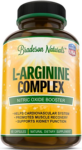 LArginine amp LCitrulline Supplement Nitric Oxide Booster Speeds up Workout Recovery Vital amp Natural Amino Acid Supports Cardiovascular Health amp Regulates Blood Pressure Made in USA