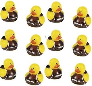 12 Mini Football Rubber Ducks