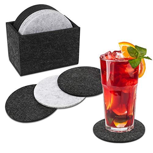 Untersetzer Set,15 Stück, Filzuntersetzer, Getränkeuntersetzer Heat-Resistant Wiederverwendbar saugfähig für Tisch Tasse Kaffee