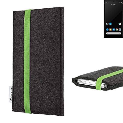 flat.design vegane Handy Tasche Coimbra für Carbon 1 MKII - Schutz Hülle Tasche Filz vegan fair grün