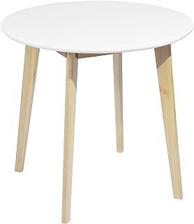 MEUBLE COSY Table de Salle à Manger Table ronde de salon Scandinave 2 à 4 Personnes Table de Cuisine Moderne avec Pieds en...