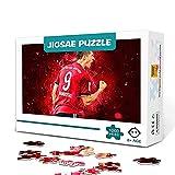 DJHYT 1000 Stück Puzzle Bundesliga Torschützenkönig Robert Lewandowski Holzpuzzle Herausforderndes Puzzlespiel und Familienspiele Puzzle 75x50cm