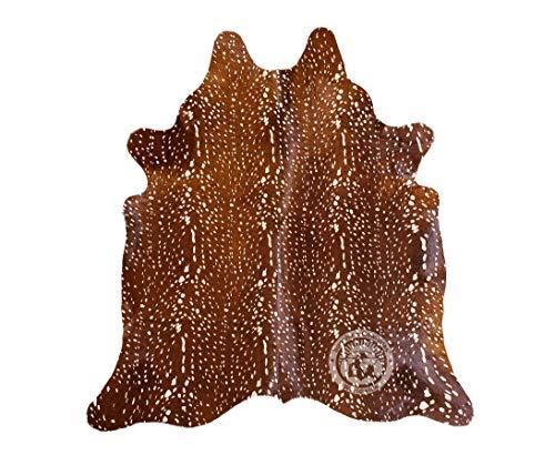 Teppich aus Kuhfell Tierdruck Hirsch Größe 210 x 180 cm - Pieles del Sol aus Spanien