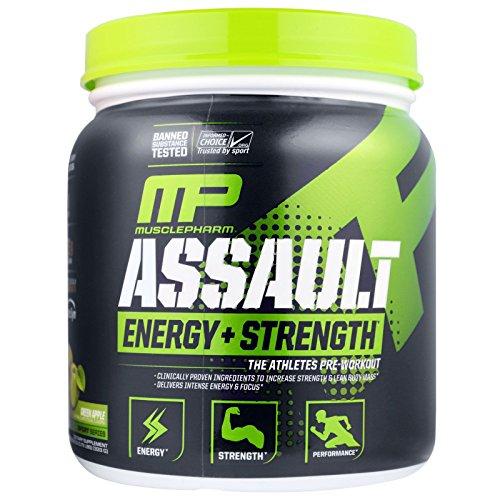 MusclePharm, Assault, Pre-Workout, Green Apple, 11.75 oz (333 g) MSF-04601