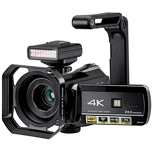 tquuquu Videocámara De Video Digital, Cámara De Visión Nocturna Videocámara Profesional De...