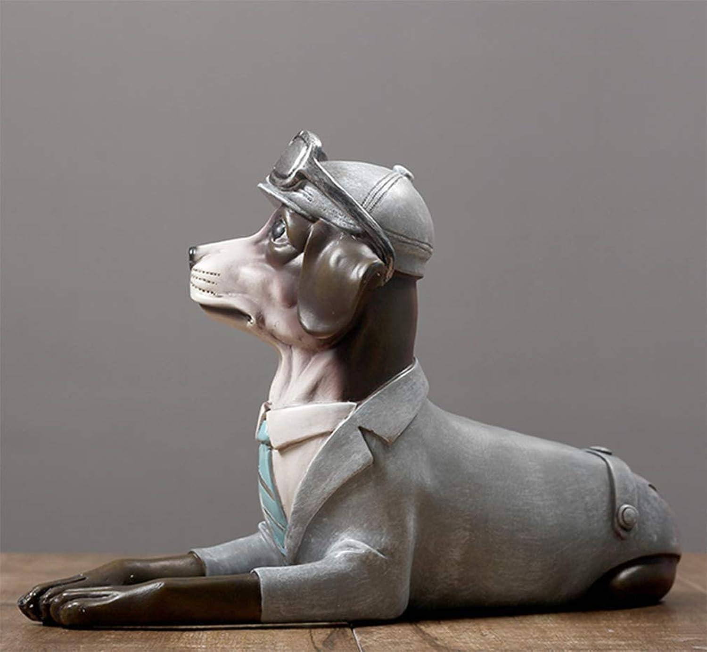ventas directas de fábrica KAPR Perro de simulación de de de Estilo nórdico oscila Sala de EEstrella Creativa Xuanguan Animal Zodiac Perro Modelo decoración decoración  mejor moda