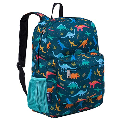 Wildkin 16 Inch Kids Backpack for Boys & Girls, 600-Denier Polyester Backpack for Kids, Features Padded Back & Adjustable Strap, Perfect for School & Travel Backpacks, BPA-Free (Jurassic Dinosaurs)