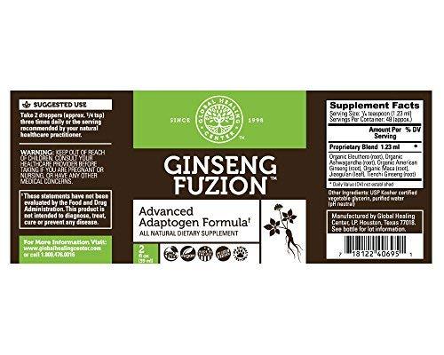 Global Healing Center Ginseng Fuzion, 2 Fl oz