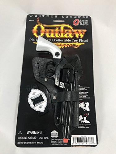 Western Legends Outlaw Die Cast Metal Cap Pistol