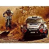 Wee Blue Coo Photograph Sport Motocross Bike Rally CAR Dirt