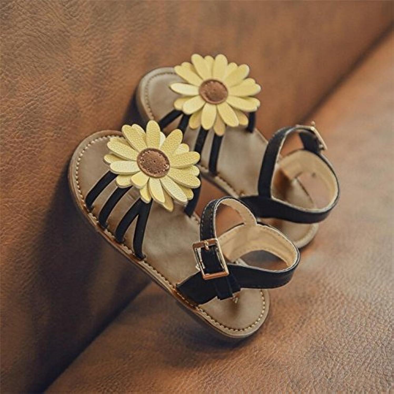 [ノーブランド品] ガールズ サンダル 靴 フォーマル シンプル かわいい 結婚式 発表会 お花 ひまわり デイリー 女の子 女児 キッズ シューズ
