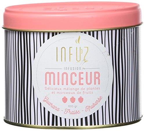 Infuz – Minceur – Infusion en vrac pour prendre soin de sa ligne – Guarana, fraise & rhubarbe – 100g